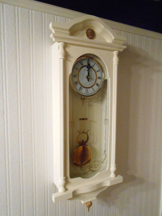 reserved for christine upcycled pendulum wall clock shabby chic tawnystreasures shabby. Black Bedroom Furniture Sets. Home Design Ideas