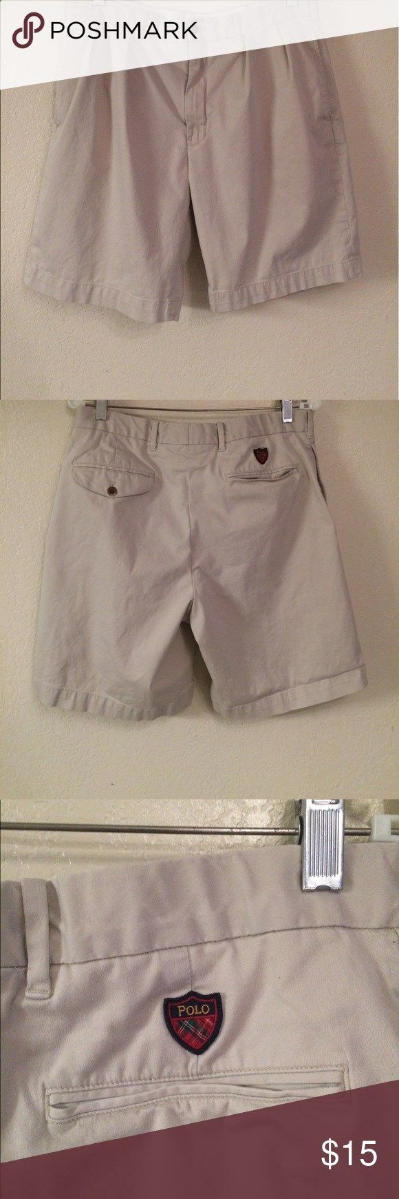 Ralph Lauren Polo Golf Shorts, khaki, Sz 34 Ralph Lauren Polo Golf Shorts, khaki, Sz 34 Polo by Ralph Lauren Shorts