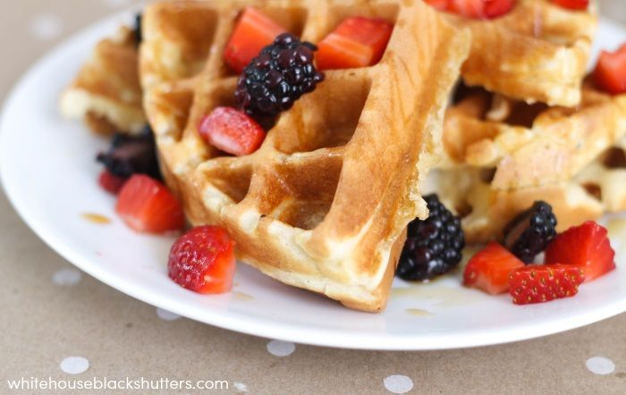 The best waffle recipe EVER! Soft, buttery, and slightly crispy.