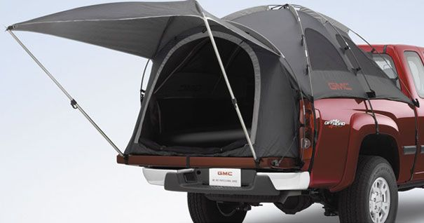 Tents on trucks! Never heard of that. Might improve car camping, (my favorite). I have thrown the top mattress with all the bedding right in the truck and headed out camping that way, even in winter (with extra blankets and a plastic tarp on top). I always keep a road trip, fishing and camping as simple and as easy as possible (especially breaking camp and cleanup!) At least until I meet a single cowboy with a proper camper and two fishin' poles.