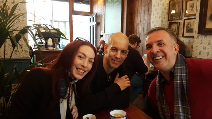 With Peter Grey and Alkistis Dimech of Scarlet Imprint Bloomsbury London 31st March 2017