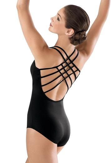 Strappy Lattice Woven Back Leotard | Balera™