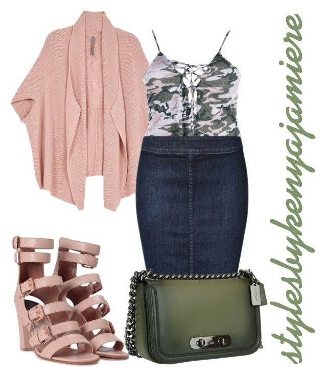 """""""Untitled #170"""" by stylesbykenyajamiere on Polyvore featuring Melissa McCarthy Seven7, Laurence Dacade, Boohoo, Devoted, Coach, plussizefashion, stylesbykenyajamiere and plus size clothing"""