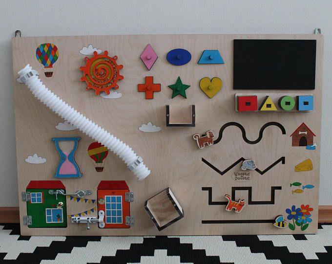 Occupato di bordo, bordo di attività, scheda sensoriale, Montessori giocattolo educativo, capacità motorie board per bambini & neonati