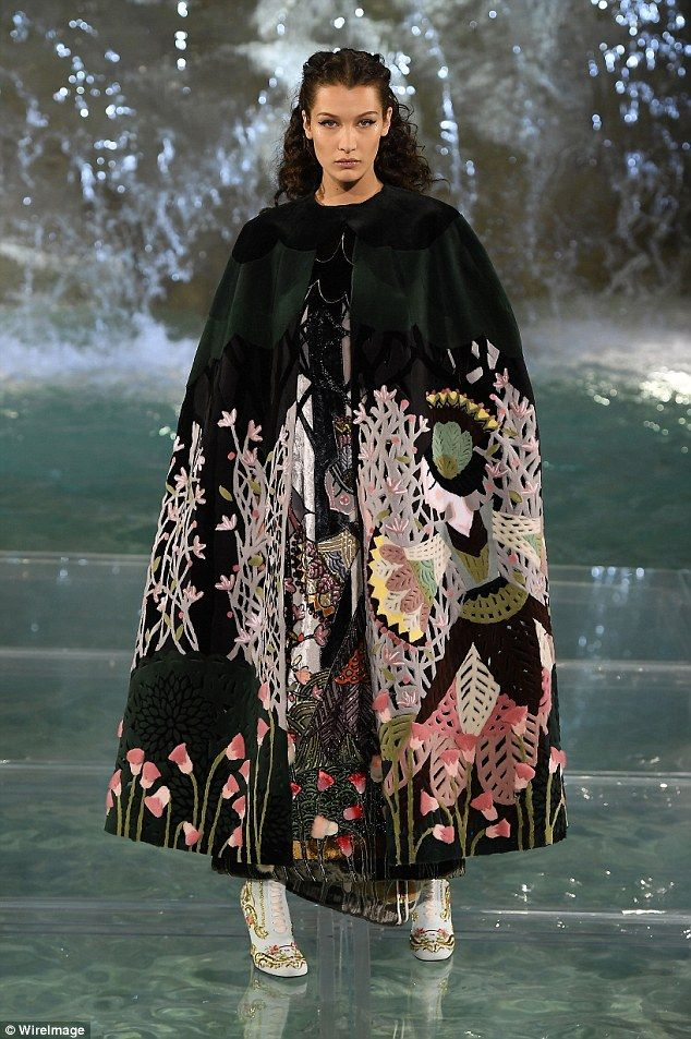 Ruling the runway: Bella Hadid conquered the Fendi show, held on a glass catwalk at Rome's famous Trevi fountain on Thursday night