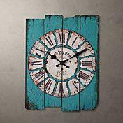"H15 ""Country Style Light Blue reloj de pared – USD $ 39.99"