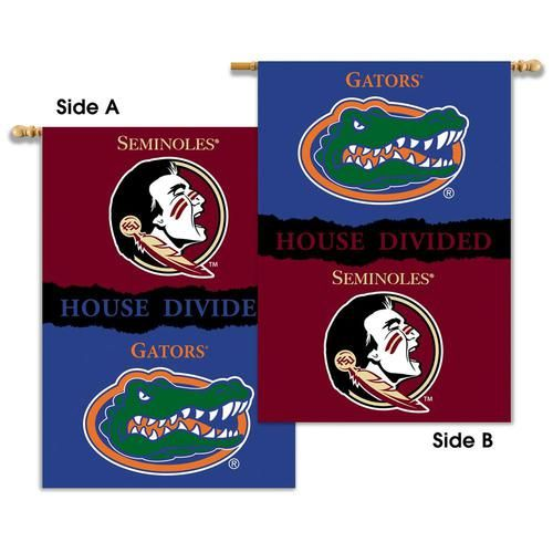 FSU Florida State University House Divided Rivalry Flag