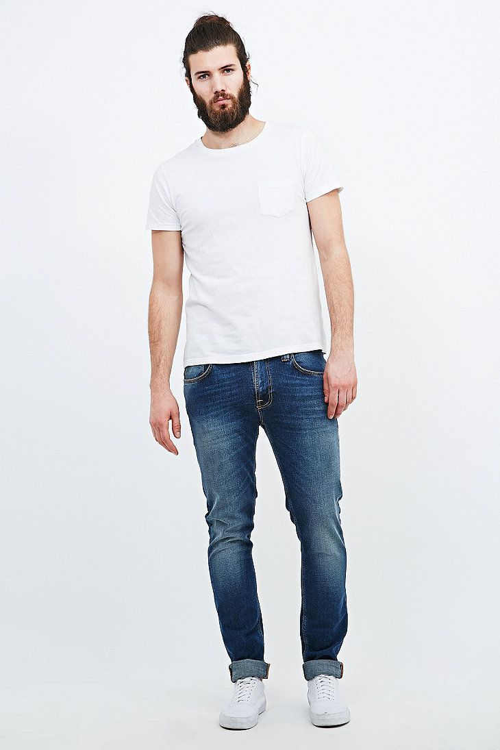 Nudie Jeans Tape Ted Jeans in Raddled Redcast - Urban Outfitters