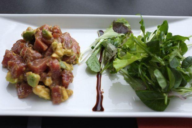 Tuna tartar with kabayaki sause; Wine and cocktail bar Ancora, Venezia