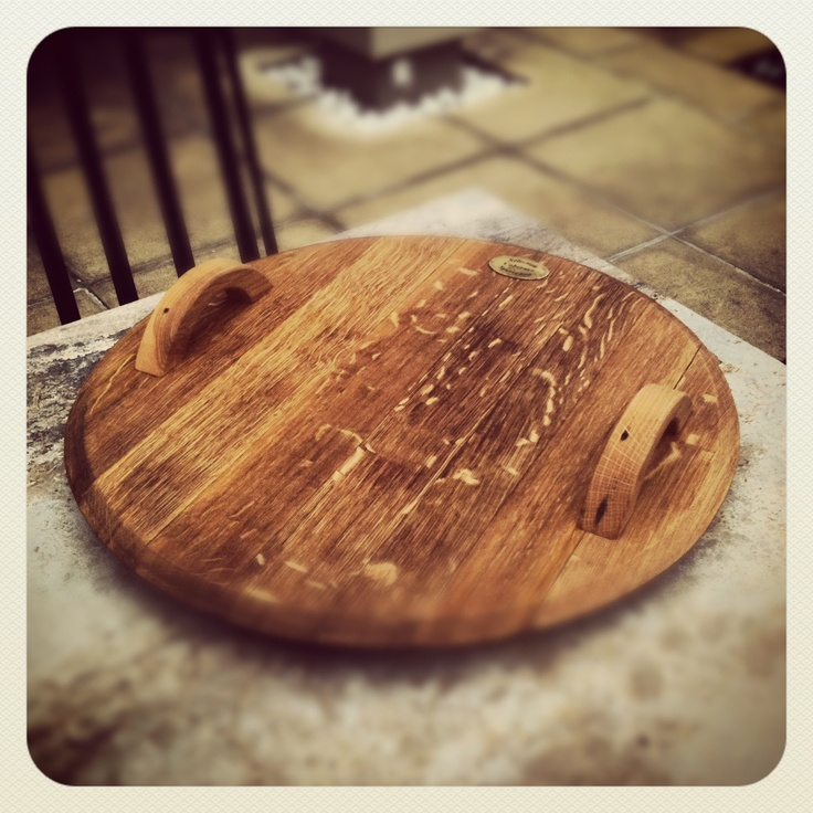 Check out our stunning wine barrel cheese boards.  Hand crafted from retired oak wine barrels used by the iconic New Zealand winery, Trinity Hill Wines.  Each piece is unique and often shows the richness of the red wine in the grain on the underside of the board.