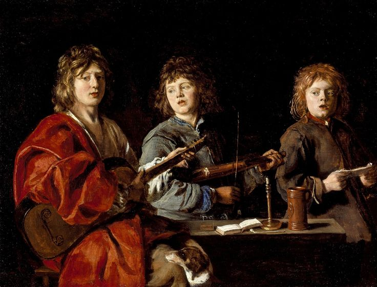 Three young musicians by Antoine Le Nain, ca. 1630 (PD-art/old), Los Angeles County Museum of Art, from the collection of Izabela Lubomirska