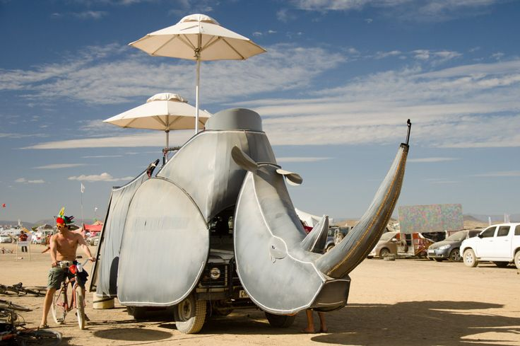 Part of the AfrikaBurn event in the Karoo Desert, South Africa