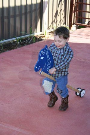 Birthday boy! Dressed by Eternal Creation. He loved his cowboy boots!