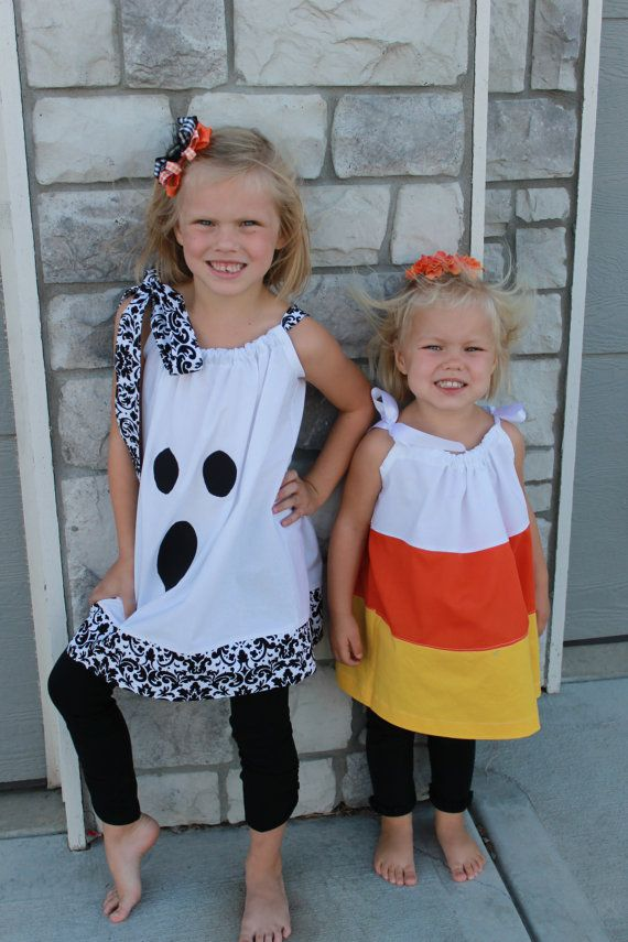 Pillowcase Dresses--such cute Halloween costumes and made like a pillowcase dress.