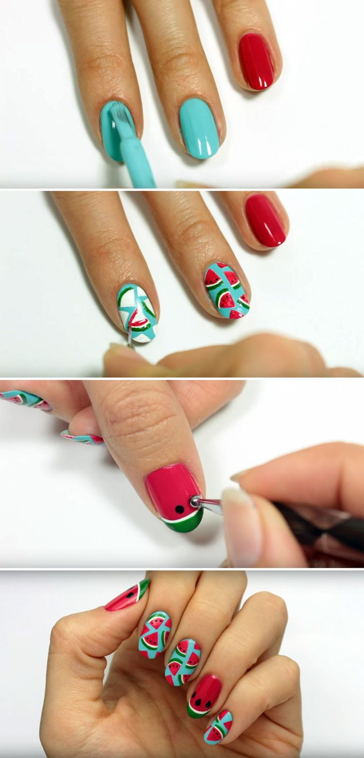 Looking for Fun Summer Nail Art? Learn How to Create These Awesome Watermelon Na…