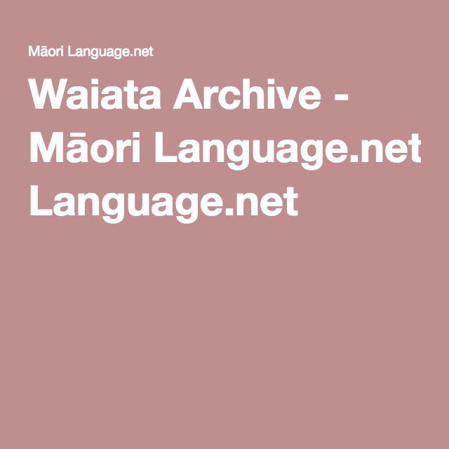 Waiata Archive - Māori Language.net