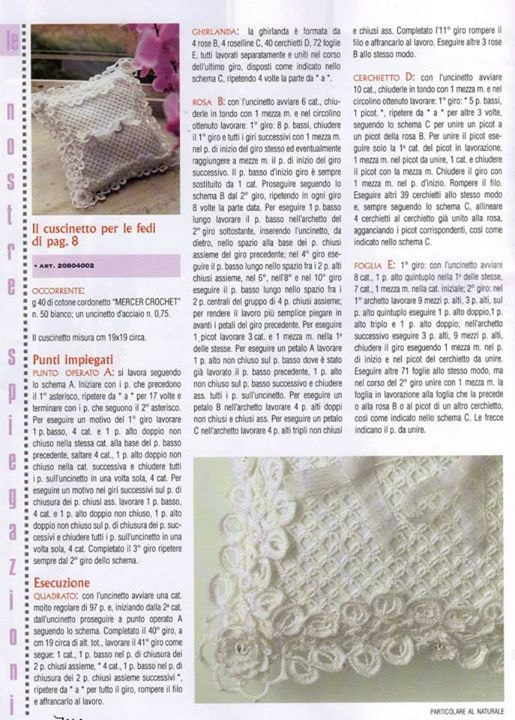 Cuscino porta fedi spiegazioni in italiano | Il blog di Vera Maglia&Uncinetto