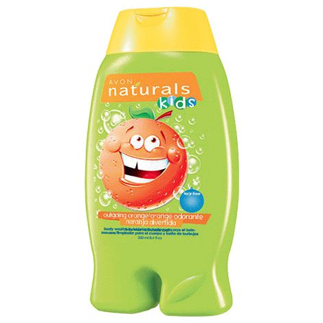 You will love this product from Avon:  Naturals Kids Outgoing Orange Body Wash  Reg 5.00 on for $3.99 contact to order staciewasylyk@hotmail.com  or www.interavon.ca/stacie.wasylyk or 613-962-6896 (message system available) I accept: E-transfers or cash $4.00 for delivery to your door I deliver in Belleville Ontario + some surrounding areas.