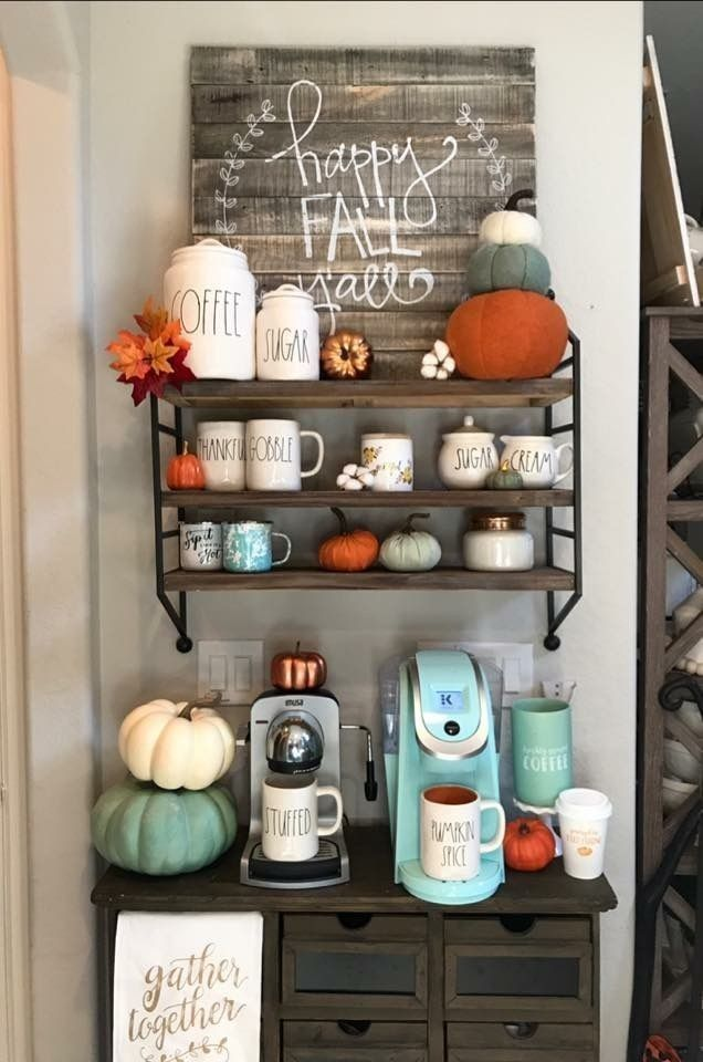77 Diy Coffee Bar Ideas Stunning Farmhouse Style Beverage Stations For Small Spa Interior Design Bar Be Coffee Bar Home Diy Coffee Bar Autumn Coffee