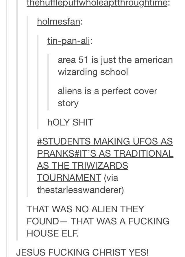 Harry Potter headcannon that is borderline genius