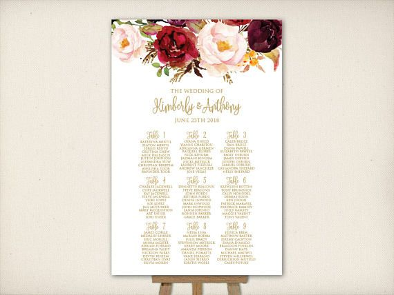 Best Wedding Seating Charts Images On   Table Seating