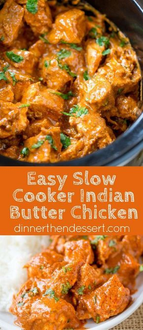 Slow Cooker Indian Butter Chicken made with spices you already have in your cabinet with all the creamy deep flavors you'd expect from your favorite restaurant.