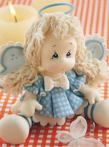 Muñeca angelical en Porcelana descarga el paso a paso en www.eviadigital.com #manualidades