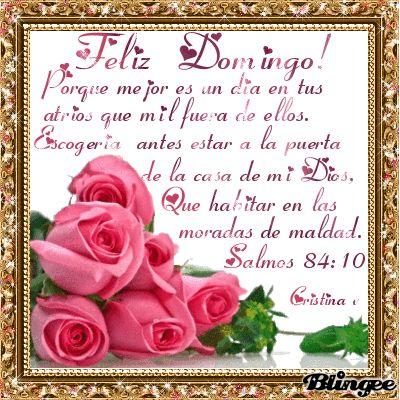 Centro Cristiano para la Familia:  FELIZ DOMINGO  Da gracias a Dios por estar en su ...