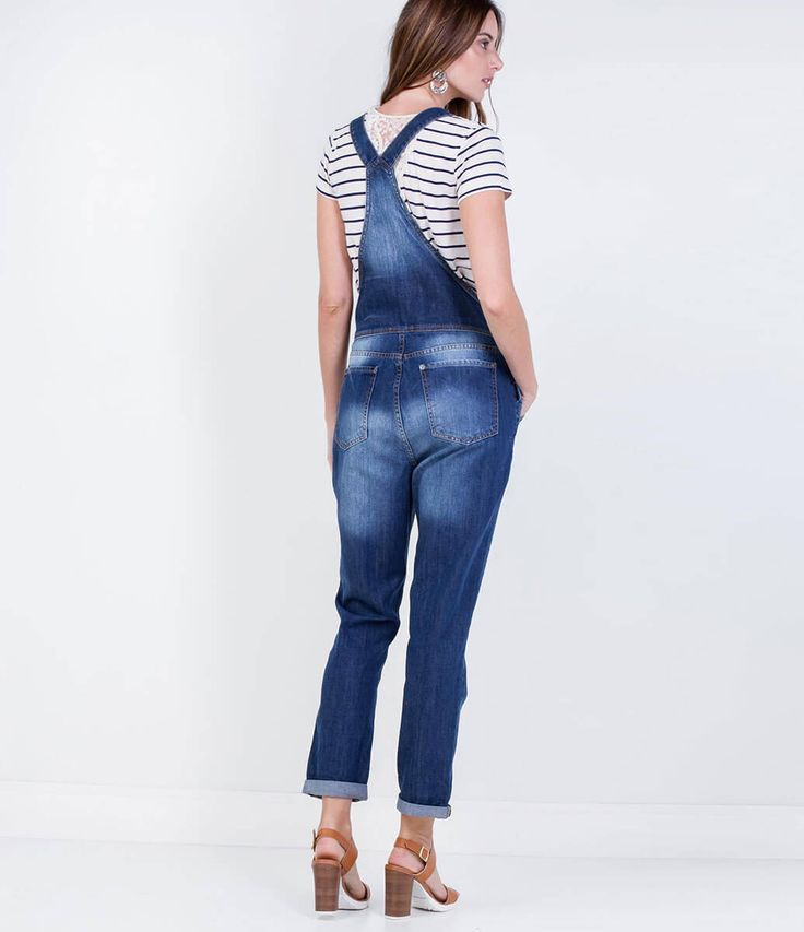 17 beste idee n over jardineira jeans feminina op for Jardineira jeans feminina c a