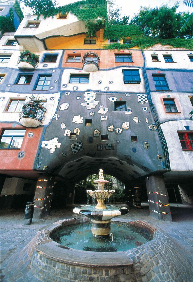 Фриденсрайх Хундертвассер. Дом Хундертвассера / Hundertwasser House (Вена, Австрия), 1983-1986