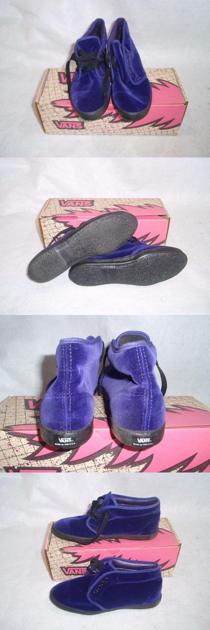 Women 159071: Nos Vintage 1990 Vans Chukka Boot Purple Velvet Wmns 6.5 Sk8 Bmx Shoes BUY IT NOW ONLY: $99.99