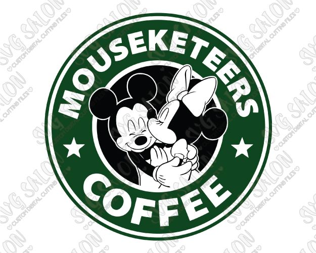 Mickey And Minnie Starbucks Logo Disney Mouseketeers