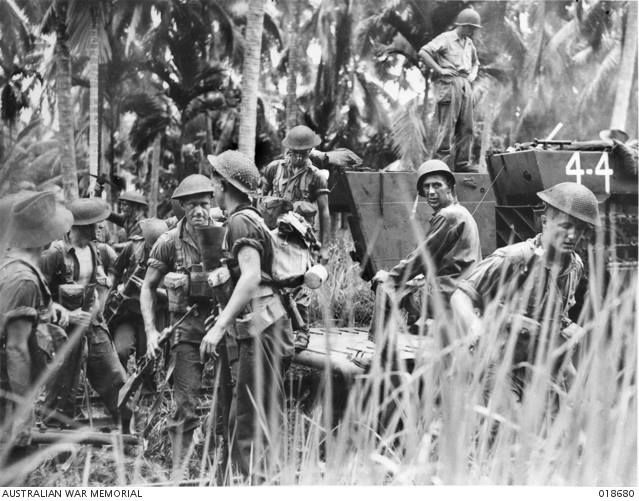 Today in Australian military history - 10th June, 1945 - Landings at Brunei, Labuan and Muar, Borneo.    Codenamed Oboe 6, the 9th Division's landings at Brunei, Labuan and Muar, were designed to secure the Brunei Bay area north of Borneo, to permit the establishment of an advanced fleet base to protect Brunei's oil and rubber resources.