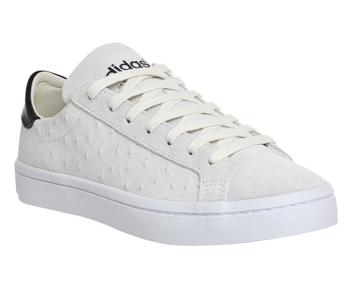 Adidas Court Vantage Off White Ostrich - Fashion Trainers