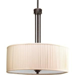 Clayton Collection Espresso 3-light Foyer Pendant-P3909-84 at The Home Depot