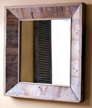 Square Reclaimed Wood Mirror from Home Decorators