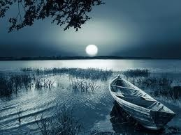 boat in moonlight...