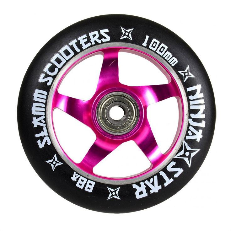 Slamm Ninja Star Wheels Pink