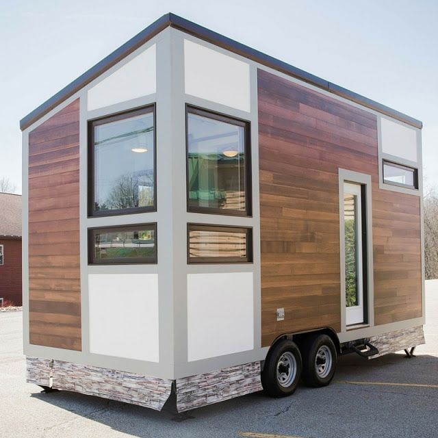 The degsy a 160 sq ft tiny house on wheels available as Modern tiny homes on wheels