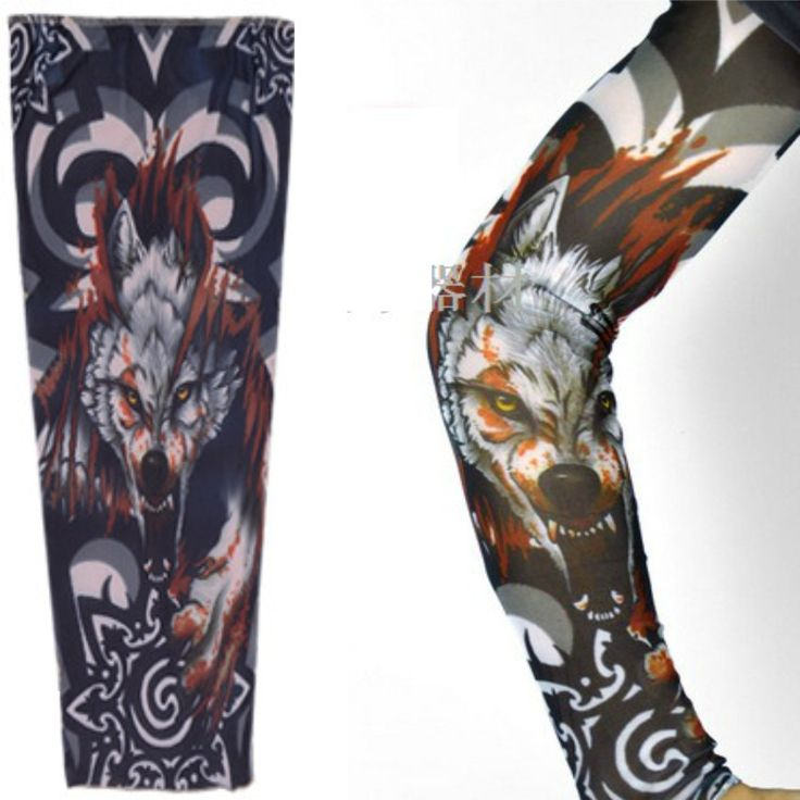 1Pcs Bloody Wolf Design Fashion Temporary Tattoo Sleeve High Quality tatuaje temporal Top Selling Cool Man Arm Tattoo Sleeves