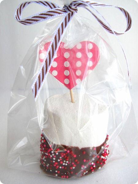 marshmallow valentine treat.