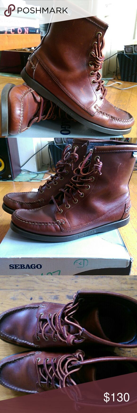 Men's Sebago x Ronnie Fieg Boat Boots Size 7 Leather boat boots from Summer 2010, one of only 120 pairs made in this color. Also includes original box. Sebago Shoes Boots
