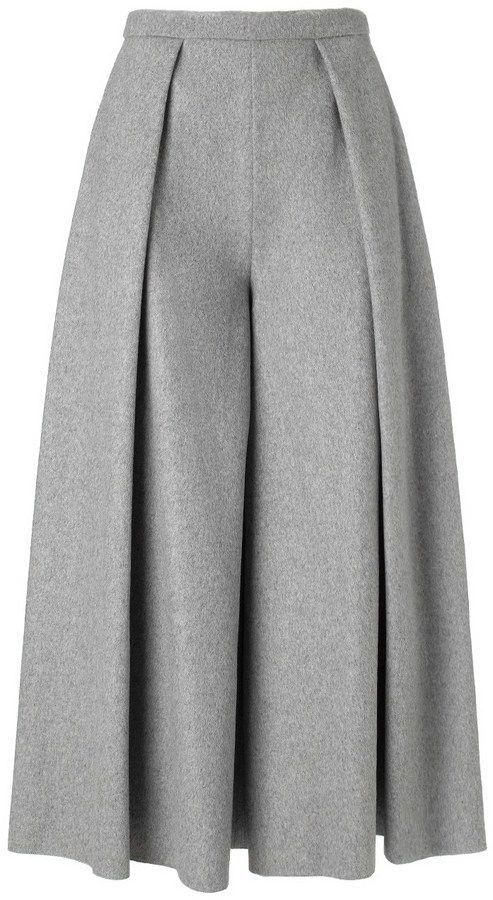 Rejina Pyo Grey Wool Calra Culottes