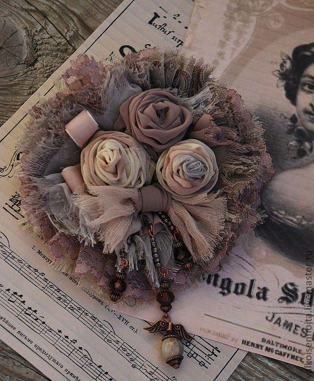 """Брошь """" Пыльные розы"""" - бохо,брошь в стиле бохо,бохо-стиль,бохо-шик,бохо украшения:"""