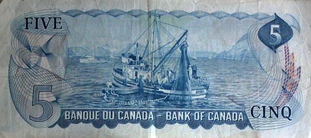 $ 5 billet canadien / Canadian $5 Bill (1/2)