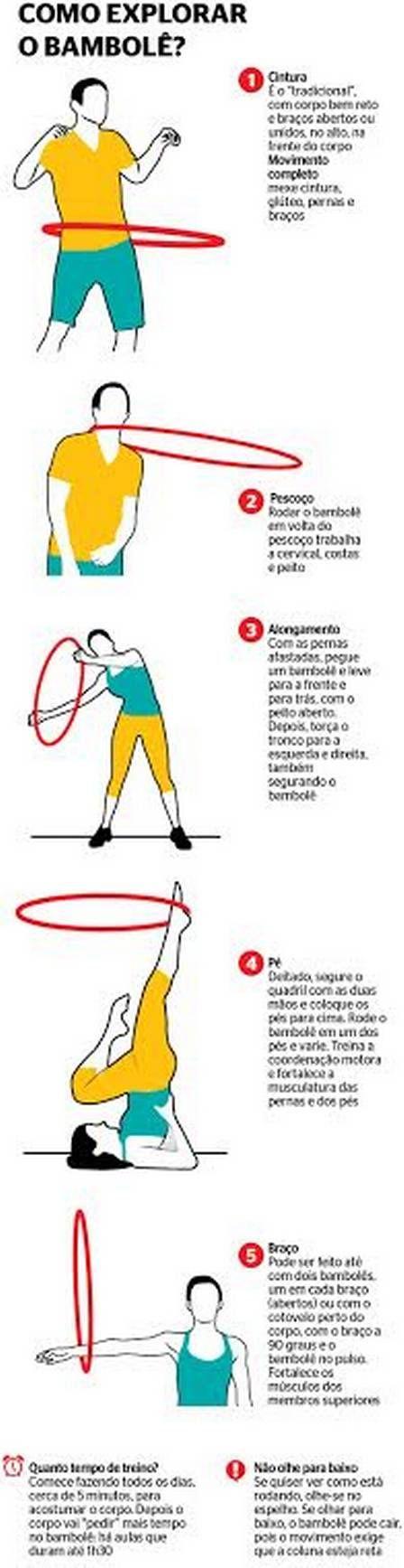 Exercício com bambolê trabalha musculatura do corpo todo e pode ser feito em família