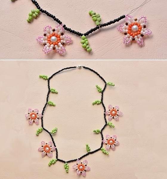 Мастер-класс по бисероплетению: Цветочное ожерелье