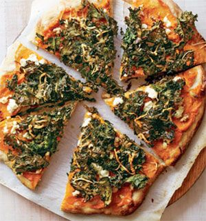 Kale and Sweet Potato Pizza