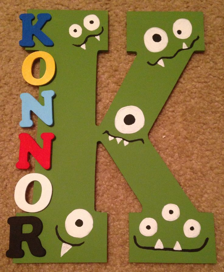 Konnor's monsters bedroom nursery door sign