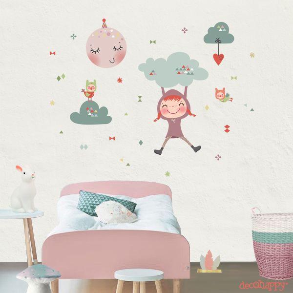 Las 25 mejores ideas sobre vinilos juveniles en pinterest for Decoracion de dormitorio infantil nina